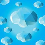 Cloud Color Background Doodle Vector - 211713688