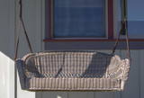 Outdoor swing on a front porch in Daybreak Utah - 211715261