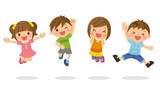 ジャンプする子供たち