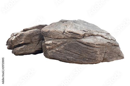 rock isolated on white background
