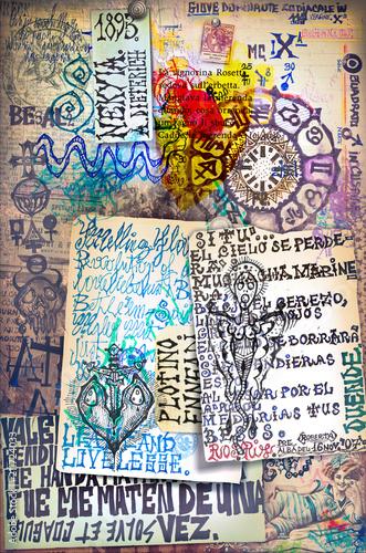 Aluminium Imagination Alchimia - Collage e disegni esoterici, bizzarri e misteriosi