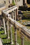 Columns of Roman Forum in Rome, Italy. Concept of ancient landmarks and antique architecture. - 211724604