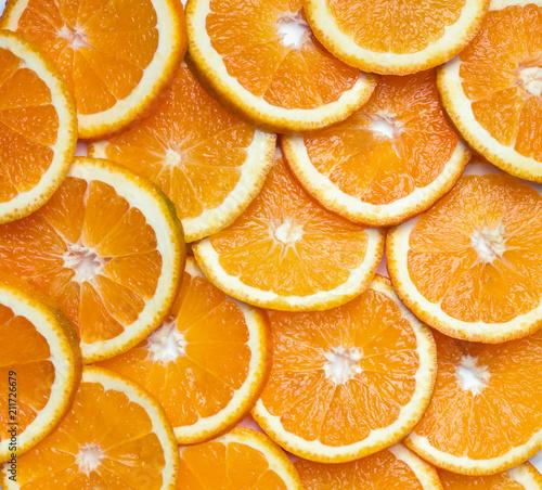 Widok z góry plasterki pomarańczy