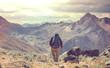 Leinwanddruck Bild - Hike in Peru