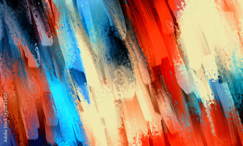 Fototapeta Abstract oil painting