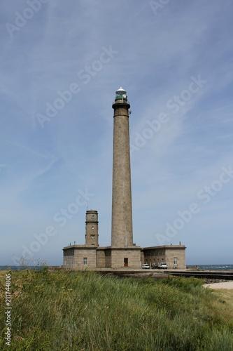 Fotobehang Vuurtoren le phare et le sémaphore de Gatteville à Gatteville le phare dans le Cotentin ,Manche,Normandie