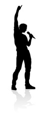 Singer Pop Country or Rock Star Silhouette © Christos Georghiou
