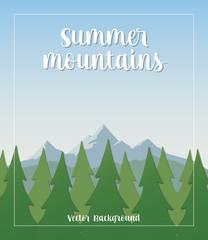 Summer Mountains Vector Background © oxinoxi