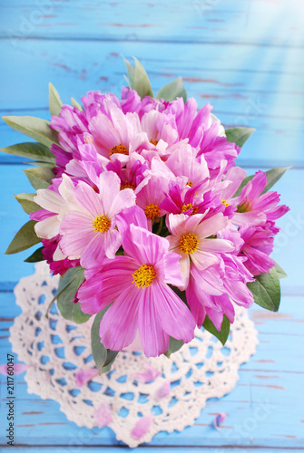 bouquet of cosmos flowers - 211760047