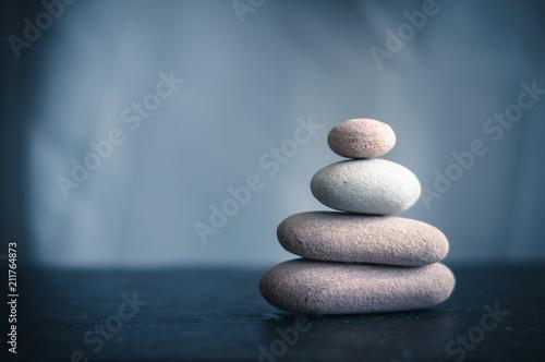 zen stone pyramid - 211764873
