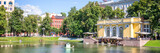 Panorama of Patriarch pond, Moscow, Russia - 211768654