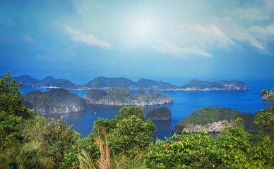 group of rocky islands in Ha Long Bay Bay © Alevtina