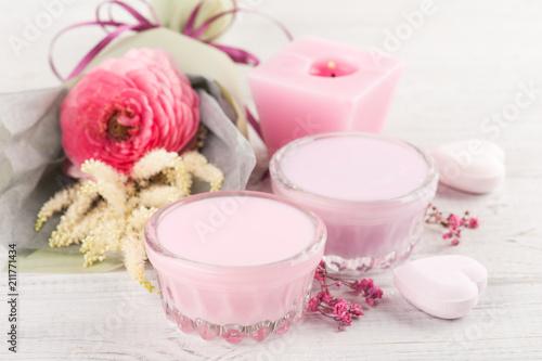 Kompozycja SPA z kosmetykami