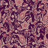 paisley seamless Vector pattern. batik style background - 211773887