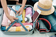 Leinwanddruck Bild - Preparation for vacation or travel.
