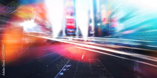 Poster Blurry new york street