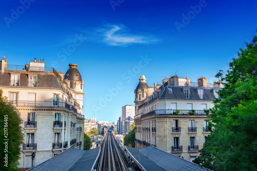 Metro station in Paris, France - 211786485