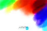 artistic backdrop, vector with colorful dust, hand drawn look background with colorful hand painted stains - 211796008