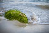 Brandung Sand Sandstrand Menorca Son Bou Spanien - 211803041