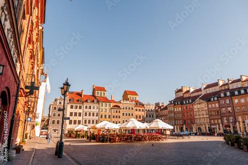 Foto Murales old streets at dawn Warsaw Poland