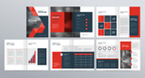 template layout  for company profile ,annual report , brochures, flyers, leaflet, magazine,book with cover page design . - 211807447