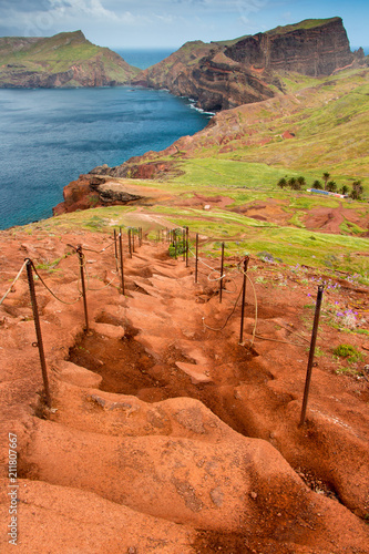 Aluminium Oranje eclat Sao Lourenco peninsula on Madeira