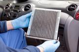 Replacing an old car cabin air filter - 211808491