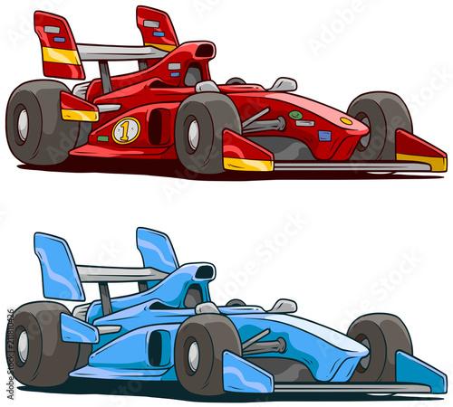 Plexiglas Auto Cartoon red and blue sport racing car