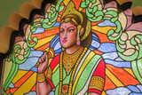 Chiang Mai, Thailand May 27, 2018 Stained glass is a beautiful Hindu god image.