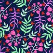Seamless Pattern Summer Floral Design - 211812681