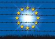 Europe - migrant - concept - fil barbelé - Lampedusa - symbole - union européenne