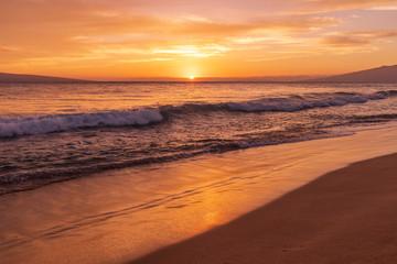Sunset on Kaanapali Beach Maui © natureguy