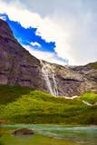 Wasserfall am Briksdal Gletscher, Norwegen
