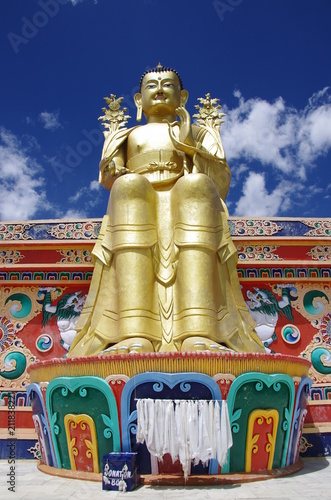 Aluminium Boeddha Buddha in the Likir monastery in Ladakh, India