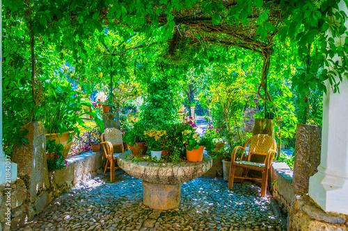 Fotobehang Groene Garden at Son Marroig, former mansion of Archduke Luis Salvado, at Mallorca, Spain