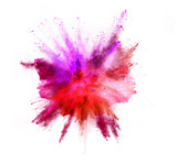 Explosion of coloured powder on white background - 211843661