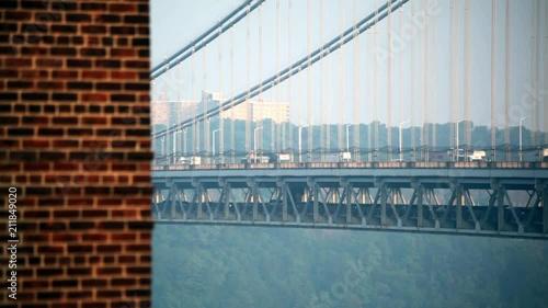 mata magnetyczna George Washing Bridge NYC With A Building