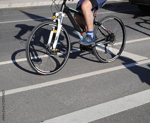 Plexiglas Fiets Toca a pedalar