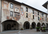 Clusone (Lombardy, Italy). Town Hall built in the eleventh and twelfth centuries