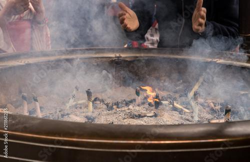 Burning Incense for Worship