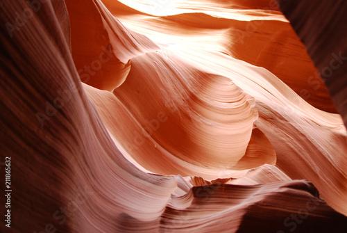 Fotobehang Bruin Slot Antelope Canyon in Navajo reservation