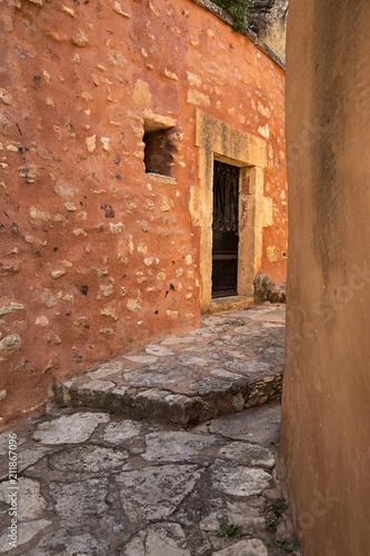 Fotobehang Smalle straatjes stone passageway in france
