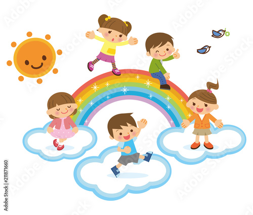 虹と子供たち - 211871660