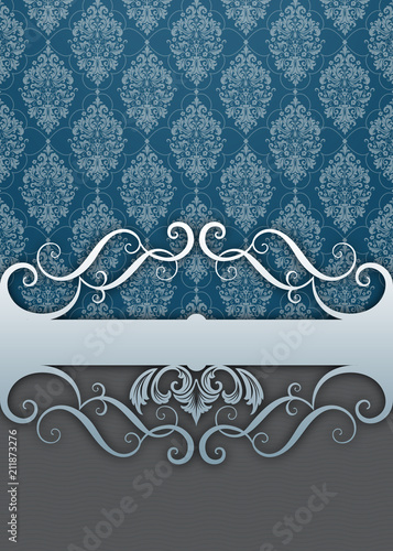 Decorative background with vintage patterns. - 211873276