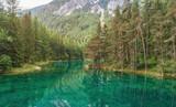 Grüner See von oben, Luftbild, Wasserqualität Österreich, Bergsee, Wandern, Ausflug, Urlaub, Idylle - 211881601
