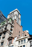Low angle view of old buildings in New York City