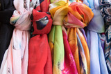 Colorful scarves Colorful scarves in a street market - 211893016