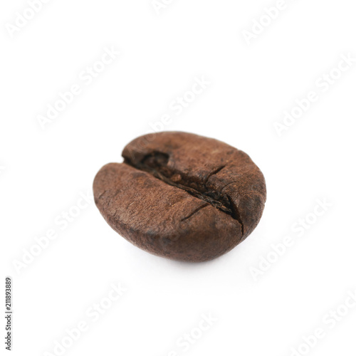 Single coffee bean isolated