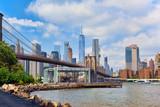 View on Jane's Carousel near Brooklyn Bridge between Manhattan and Brooklyn. USA. - 211906093