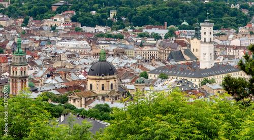 Blick auf die Altstadt von Lemberg vom Schlossberg  - 211907651